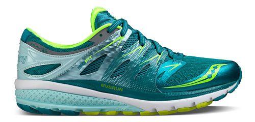 Womens Saucony Zealot ISO 2 Running Shoe - Teal/Citron 9.5