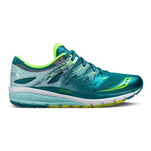 Womens Saucony Zealot ISO 2 Running Shoe - Teal/Citron 10
