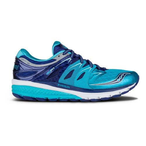 Womens Saucony Zealot ISO 2 Running Shoe - Navy/Blue/Silver 7.5