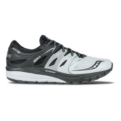 Mens Saucony Zealot ISO 2 Reflex Running Shoe - Black/Silver 11