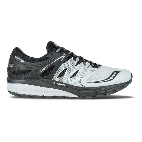 Mens Saucony Zealot ISO 2 Reflex Running Shoe - Black/Silver 9.5