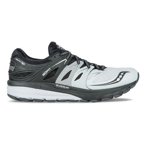 Womens Saucony Zealot ISO 2 Reflex Running Shoe - Black/Silver 7.5