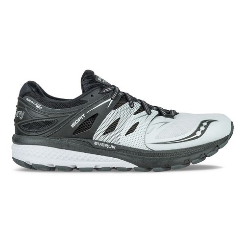 Womens Saucony Zealot ISO 2 Reflex Running Shoe - Black/Silver 8.5