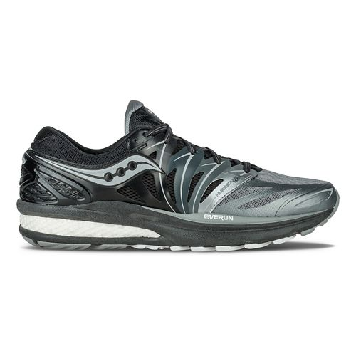 Mens Saucony Hurricane ISO 2 Reflex Running Shoe - Black/Silver 7.5