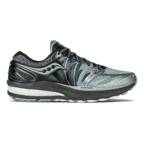 Womens Saucony Hurricane ISO 2 Reflex Running Shoe - Black/Silver 8.5