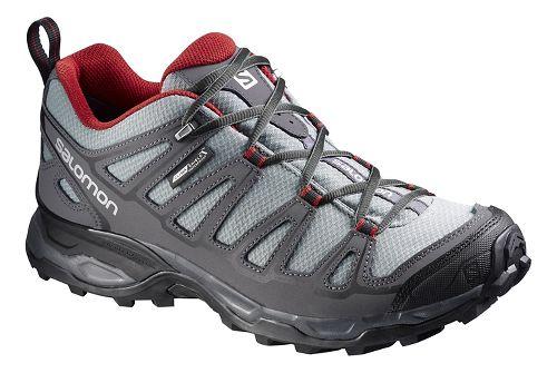 Mens Salomon X Ultra Prime CS WP Hiking Shoe - Grey/Black 11.5
