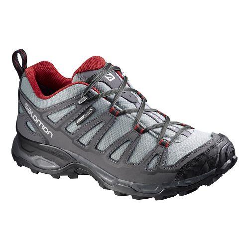 Mens Salomon X Ultra Prime CS WP Hiking Shoe - Grey/Black 10