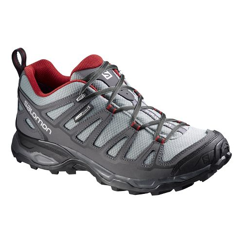 Mens Salomon X Ultra Prime CS WP Hiking Shoe - Grey/Black 11.5