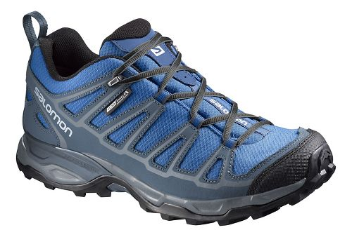 Mens Salomon X Ultra Prime CS WP Hiking Shoe - Blue/Grey 7.5