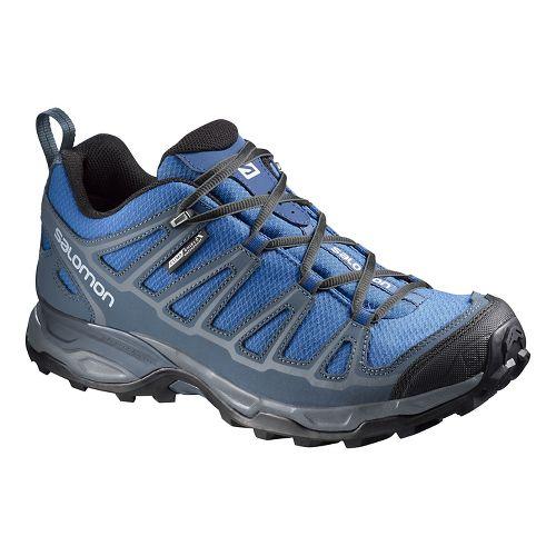 Mens Salomon X Ultra Prime CS WP Hiking Shoe - Blue/Grey 10.5