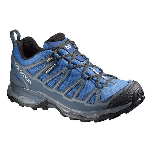 Mens Salomon X Ultra Prime CS WP Hiking Shoe - Blue/Grey 8.5