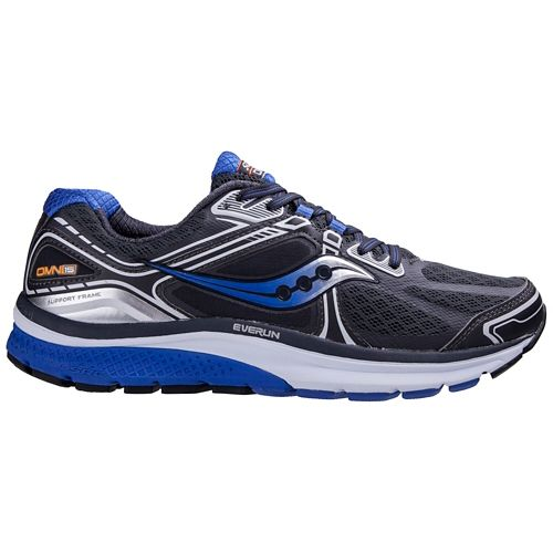 Mens Saucony Omni 15 Running Shoe - Grey/Blue 15