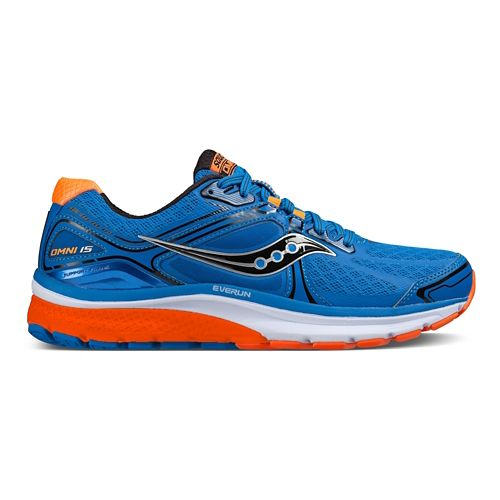 Mens Saucony Omni 15 Running Shoe - Blue/Orange/Black 10