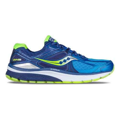 Mens Saucony Omni 15 Running Shoe - Twilight/Blue/Citron 8.5