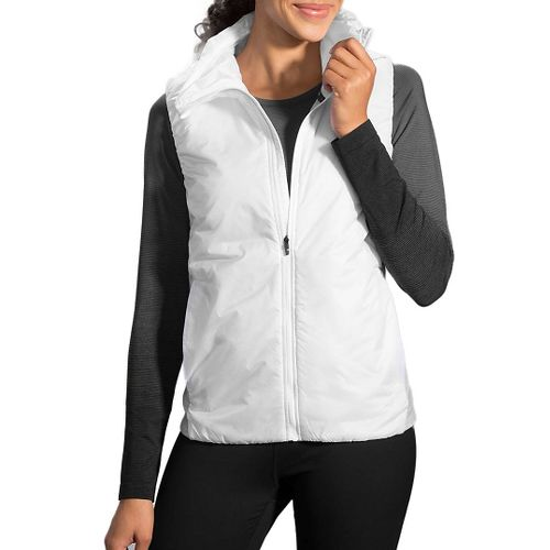 Womens Brooks LSD Thermal Vest - White L