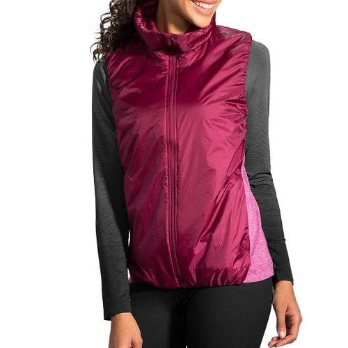 Womens Brooks LSD Thermal Vest - Sangria L