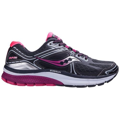 Womens Saucony Omni 15 Running Shoe - Grey/Pink 5