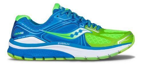 Womens Saucony Omni 15 Running Shoe - Blue/Slime 5.5