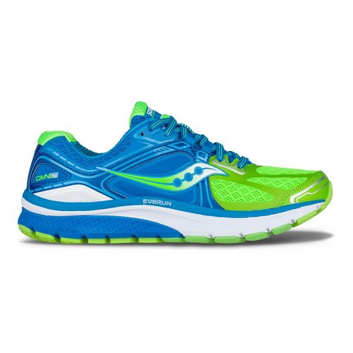 Womens Saucony Omni 15 Running Shoe - Blue/Slime 7.5
