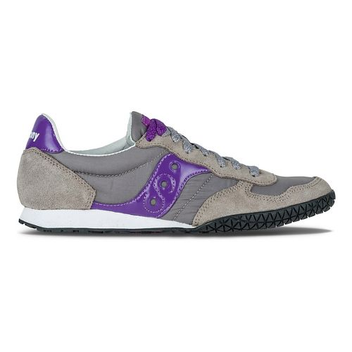 Womens Saucony Bullet Casual Shoe - Grey/Purple 9.5