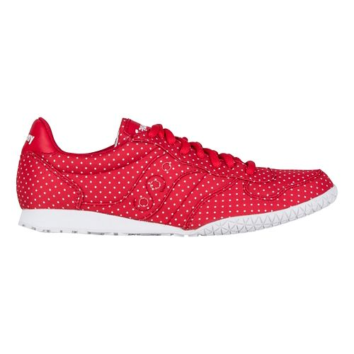 Womens Saucony Bullet Dots Casual Shoe - Red 7.5