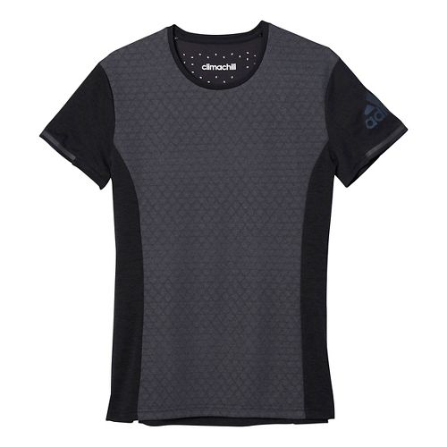 Womens adidas Supernova Climachill Tee Short Sleeve Technical Tops - Black M
