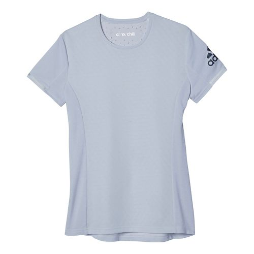 Womens adidas Supernova Climachill Tee Short Sleeve Technical Tops - White Melange M