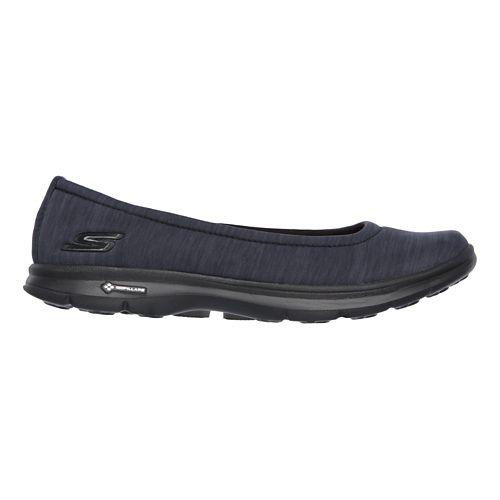 Womens Skechers GO Step Challenge Walking Shoe - Black/Grey 8.5