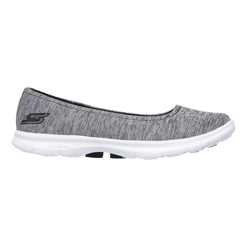 Womens Skechers GO Step Challenge Walking Shoe - Black/Grey 8.5