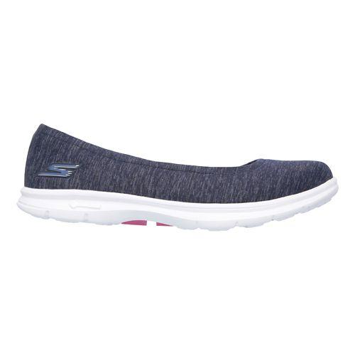 Womens Skechers GO Step Challenge Walking Shoe - Navy/White 8.5