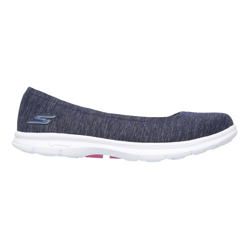 Womens Skechers GO Step Challenge Walking Shoe - Navy/White 9.5