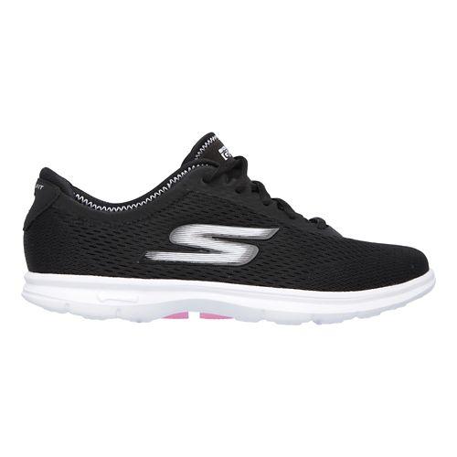 Womens Skechers GO Step Sport Walking Shoe - Black/White 6