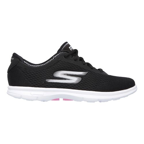 Womens Skechers GO Step Sport Walking Shoe - Black/White 9