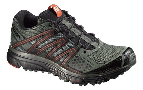 Mens Salomon X-Mission 3 Running Shoe - Black/Orange 9