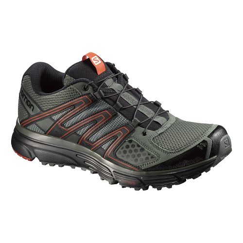 Mens Salomon X-Mission 3 Running Shoe - Black/Orange 9.5