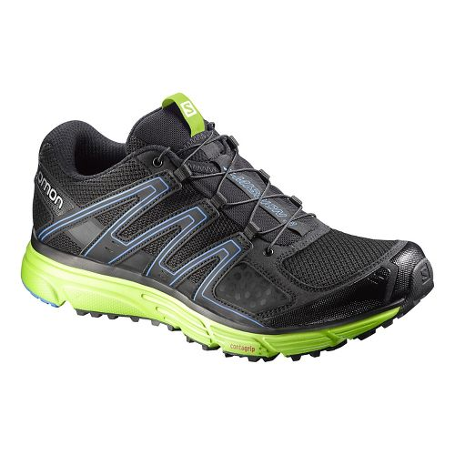 Mens Salomon X-Mission 3 Running Shoe - Black/Green 12.5