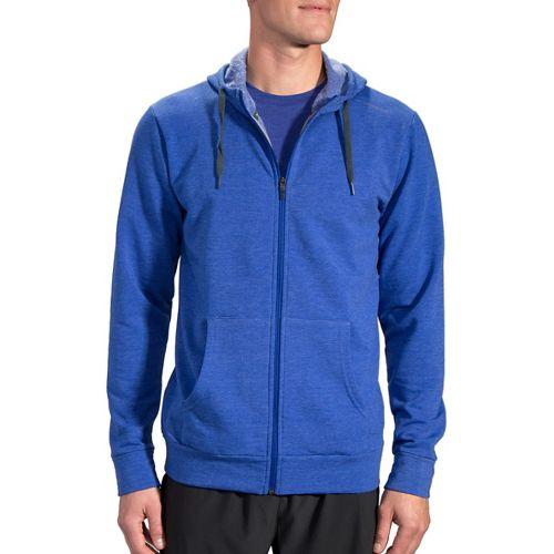 Mens Brooks Distance Hoodie & Sweatshirts Technical Tops - Heather Basin XL