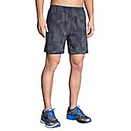 "Mens Brooks Sherpa 2-in-1 Printed 7"" Shorts"