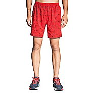 "Mens Brooks Sherpa 7"" 2-in-1 Printed Shorts"