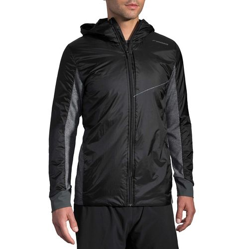 Mens Brooks LSD Thermal Running Jackets - Black XL