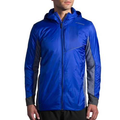 Mens Brooks LSD Thermal Running Jackets - Basin/Heather Coast XXL