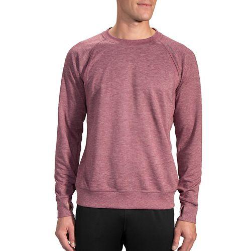 Mens Brooks Joyride Sweatshirt Half-Zips & Hoodies Technical Tops - Medium Red XL