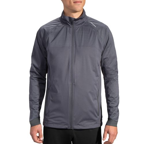 Mens Brooks Drift Shell Rain Jackets - Asphalt Reflective L
