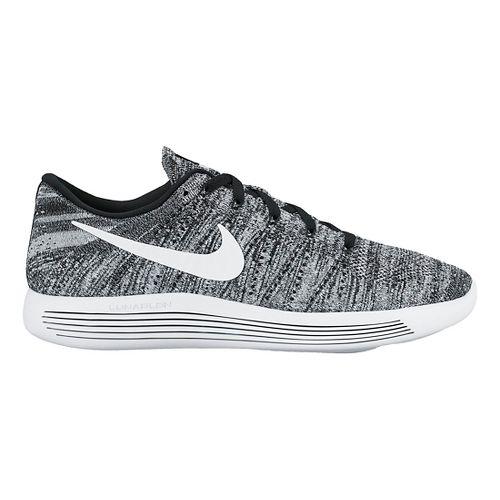 Mens Nike LunarEpic Low Flyknit Running Shoe - White/Black 10.5