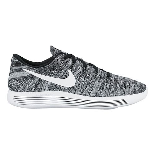Mens Nike LunarEpic Low Flyknit Running Shoe - White/Black 9