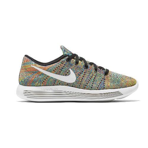 Mens Nike LunarEpic Low Flyknit Running Shoe - Multi/Black 10.5