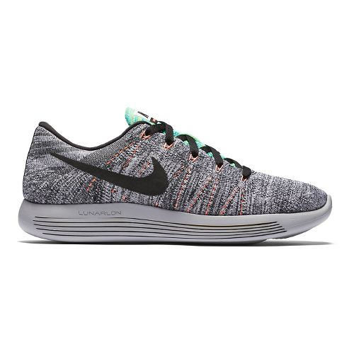 Mens Nike LunarEpic Low Flyknit Running Shoe - White/Blue 10.5