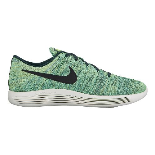 Mens Nike LunarEpic Low Flyknit Running Shoe - Seaweed 10