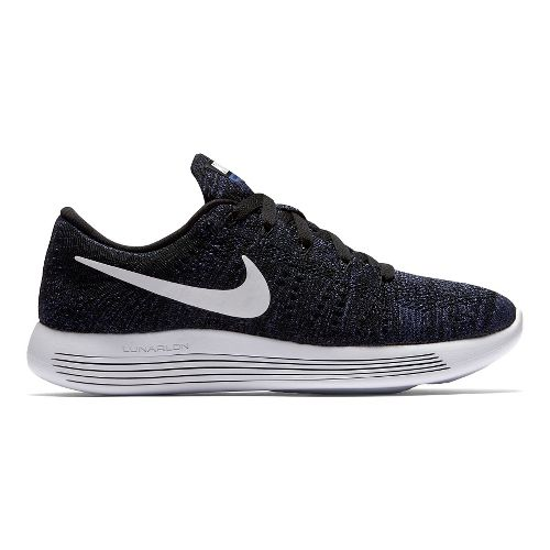 Womens Nike LunarEpic Low Flyknit Running Shoe - Black/Purple 7.5