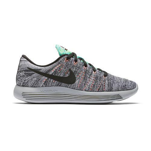 Womens Nike LunarEpic Low Flyknit Running Shoe - White/Mango 8.5